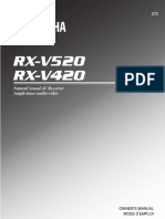 Yamaha RX-V520 - User Manual