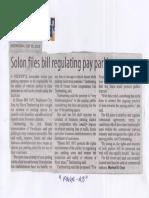 Manila Standard, July 10, 2019, Solon files regulating pay parking areas.pdf