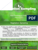Vegetation Sampling