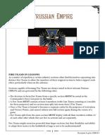 Prussian Empire ORBATS October 16