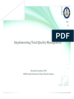 Chapter 22 Implementing Total Quality Management