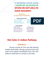 Hot Axle in Indian Railway