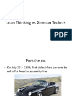 Lean Thinking vs German Technik
