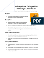 Making Your Interpretive Readings Come Alive