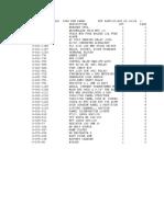 C-94693-902 BOM (3080 ESM Switchgear Control Panel)