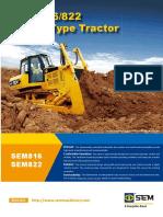 Track Type Tractor SEM 822