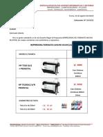 Cotizacion Impresora Plotter Hp t520(a1)