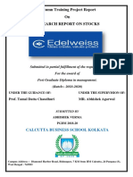 Research Report O Stock_Edelweiss kolkata