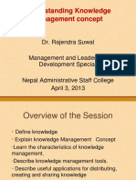 Understanding Knowledge Management Concept