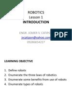 ROBOTICS Lesson 1 Introduction