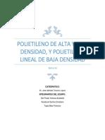 Reporte Del Plastico POLIETILENO