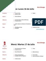 Ana Zuluaga Menú 16-19:Julio