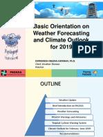 Weather Orientation for LISTO-Jan28'2019