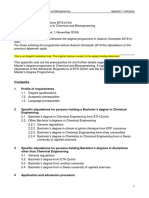 MSc Chemical Bioengineering Appendix