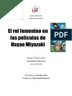 El Rol Femenino en Las Películas de Hayao Miyazaki (María Morillo)