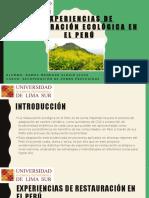 Expo - Experiencias de Restauración Ecológica en El Perú