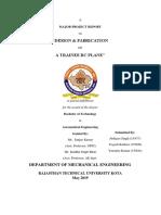 Fabrication RC Plane Report