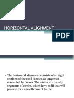 2. Horizontal Alignment (1-2)