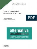 Marsh, Stoker - Teoría y Métodos de La Ciencia Política, Intro y Cáp 10