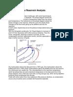 Gas Condensate Reservoir Analysis