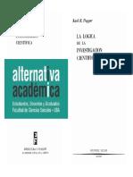 Popper - La Lógica de La Investigación Científica, Panorama de Algunos Problemas Fundamentales