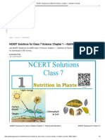 Additional Notes - Class 7 - Science - Nutrition in Plants