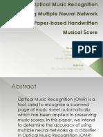 Optical Music Recognition Presentation
