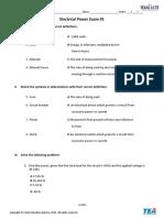Electrical Power Exam #1.docx