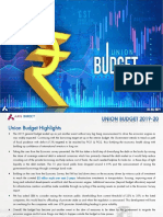 Budget 2019 Analysis by Axis Direct