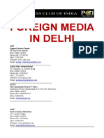 List of Foreign media- India