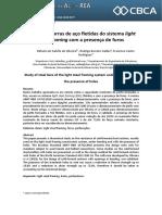 Estudo de barras de aço fletidas do sistema light steel framing com a presença de furos