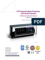 C70 Capacitor Bank Protection and Control System