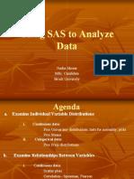 Statistical Analysis Using Sas