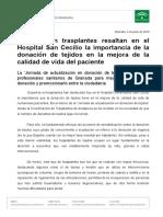 Np190704_Jornada Actualización Donación Tejidos