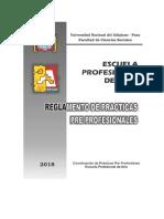 Reglamento de Prácticas Pre Profesionales 2018_1