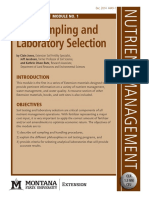 Sampling and Laboratory selection