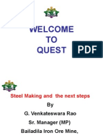 Steel Making and the Next Steps