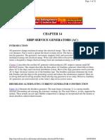 14 Ships Service Generators