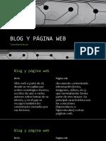 Blog y Página Web