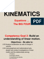 04 Kinematics Big Four Equations