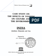Case study on effects of Tourism on culture and the environment