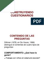 CONSTRUYENDO CUESTIONARIOS