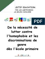 Ecole Primaire Et LGBT