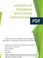 Characteristics of Competent Intercultural Communicators