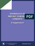 Hydraulics of Precast Conduits