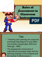 Role of Assessment in Classroom Instruction