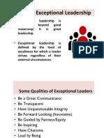Exceptional Leadership Slides