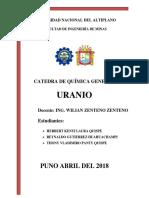 Monografia Del Uranio