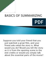 Basics of Summarizing Eapp
