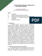 El Diagnostico de Simulacion en El Campo de La Psicologia Forense